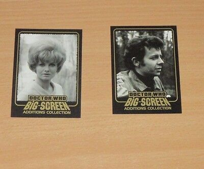 2 Strictly Ink Big Screen Doctor Who limited edition gold inked cards, F6 and F9