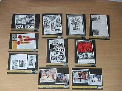 10 Strictly Ink Big Screen Doctor Who movie poster cards F2 3 4 5 6 8 9 10 11 12