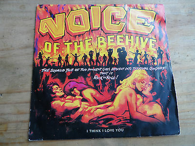 """Voice Of The Beehive I Think I Love You 7"""" P/S Single London 1991 VG+ Condition."""
