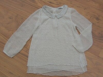 GIRLS sheer long sleeve BLOUSE top layered STAR 5-6 years