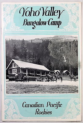 1928 publicity pamphlet for CPR Yoho Valley Bungalow Camp (AB)