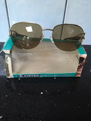 Fashion Sunglasses. 100% UV Protection  Brown And Gold