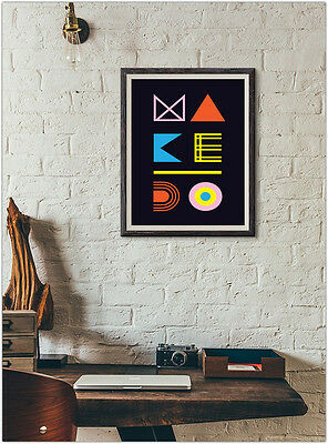 Modern Abstract Print Fashion Poster Home Interior Wall Picture Decoration A4