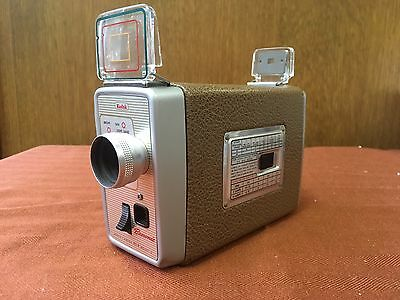 Vintage Kodak Brownie Regular 8mm (Double 8) Movie Camera - Model 3 - Key Wind