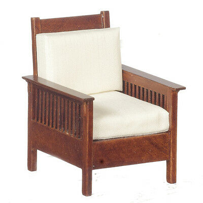 Dollhouse Miniature - Mission Style Chair circa 1907- 1:12th scale - Walnut