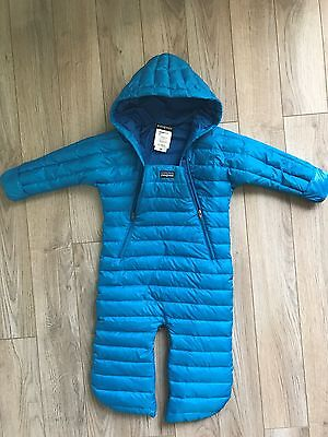 Patagonia Bunting Snow Suit Puff-Ball Baby 12 Months Blue Sleeper Camping