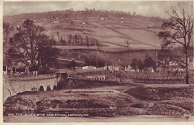 THE RIVER WYE & KYMIN, MONMOUTH 1940s Road Bridges over the Rivers. VGC