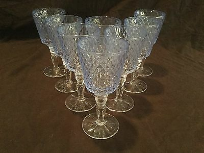 Set Of 8 Villeroy & Boch Retro Country Blue Water Glasses/goblet