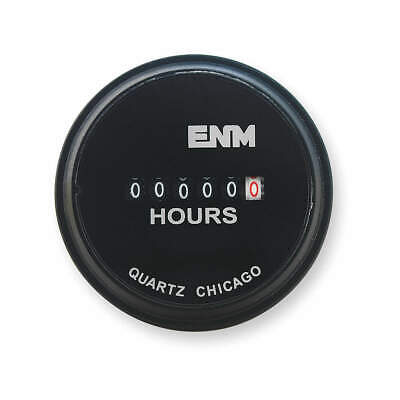 ENM DC Hour Meter,Electrical,2.31 in,Round, T40A45