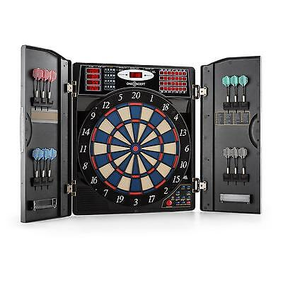Electronic Dartboard Games Toy Cabinet  Play 12 Soft Dart Tips Computer Metal