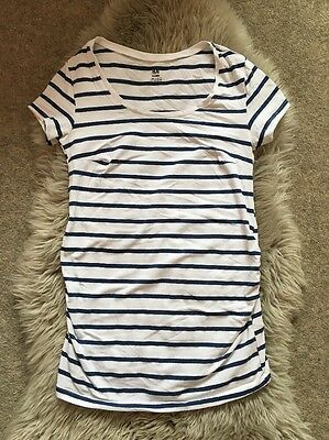 H&M Maternity Striped Tshirt Size Small