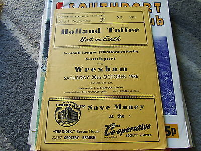 Southport V Wrexham 1956-7