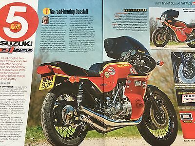 Suzuki Gt 750 Triple - 5 Of The Best - Original 6 Page Colour Motorcycle Article