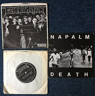 Napalm Death - Single Bundle - Confrontation, Electro Hippies Earache