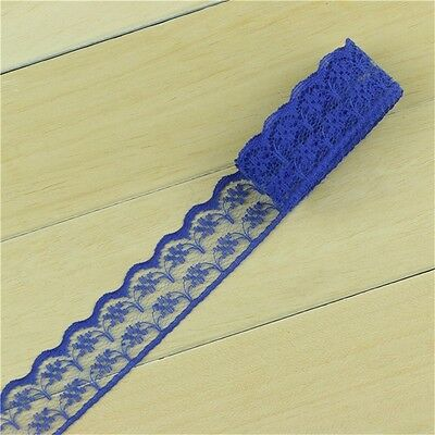 infOUK Lace Ribbon Tape 1.5cm width DIY Embroidered Net Lace Trim Fabric