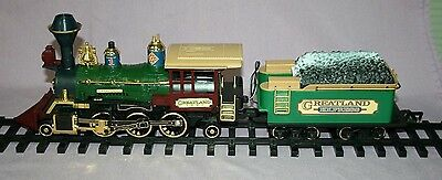 New Bright Locomotive & Tender GREATLAND HOLIDAY EXPRESS TRAIN 1992