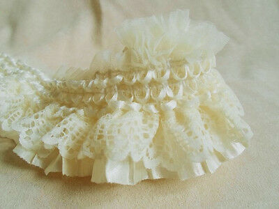 infOUK 3 yard 8 cm embroidered lace trimming  skirt lace ribboon decoratives