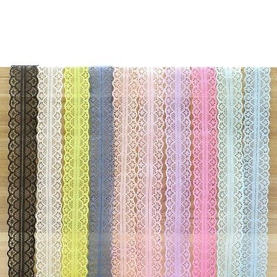 infOUK 30MM Knitting embroidered lace ribbon decorative Scrabooking Lace