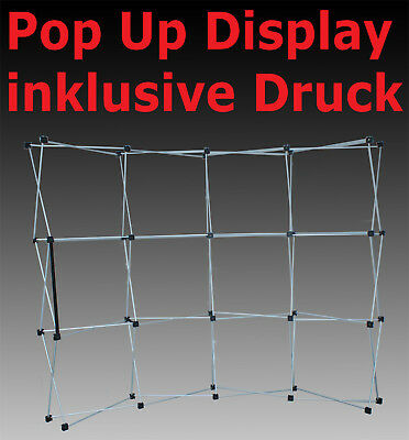 POP-UP DISPLAY inklusive DRUCK 3 x 3 Felder 230 x 344 cm MESSEWAND