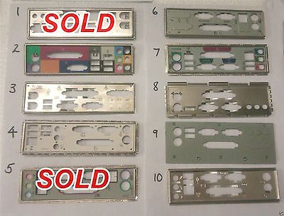 I/o Io Plate Back Shield Choice Of One For Matx Atx Unknown Motherboard Pc Lot 6