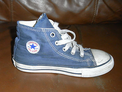Converse Canvas All Star BOOTS Trainers - BLUE - Size 10 UK KIDS INFANT -Genuine