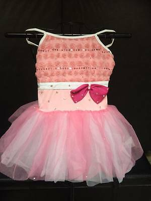 Ballet dance costume in Pink with tutu