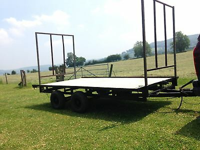 Ifor Williams Flat Bed Trailer With Hay Racks 3500kg