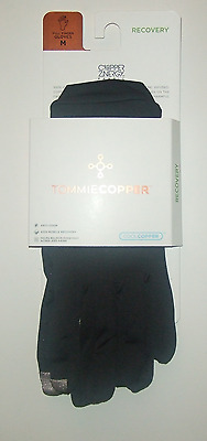 """TOMMIE COPPER Womens Recovery Compression Full Finger GLOVES M BLACK 7.5-8.5"""""""