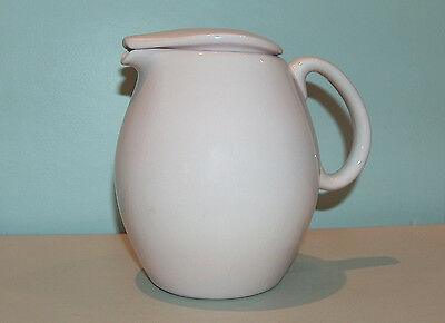 8204: Vintage Russell Wright Iroquois Pitcher Teapot w Lid Casual Pink Sherbet