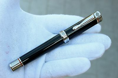 HARLEY DAVIDSON By STYPEN Black LACQUER & CHROME Fountain Pen-From 90's - RARE!