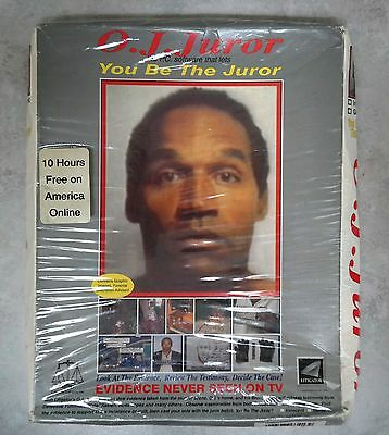 """OJ Simpson 1995 DOS Vintage """"You Be The Juror"""" Game Unopened"""