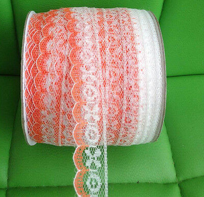 infOUK width 2 CM embroidered lace trimming 10 yards ribboon decoratives