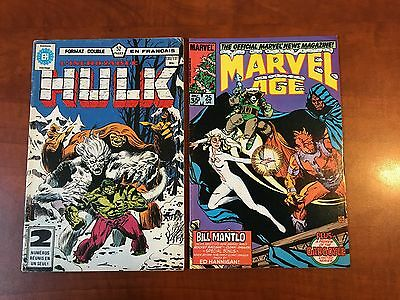 Incredible Hulk 271 French reprint! Rocket Raccoon - Rare! + Marvel Age 25 bonus