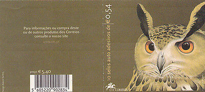 PORTUGAL  BOOKLET PORTUGUESE BIRDS BUFO REAL10 stamps  (2002)