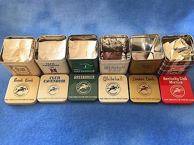 Set of 6 Vintage Kentucky Club Tobacco Tins