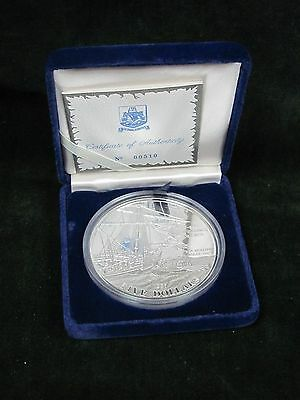 1987 Bermuda $5 5 oz Proof Silver - Sea Venture