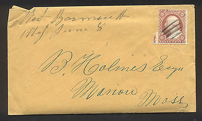 1860 Washington 3 cent Envelope and Letters, to Massachusetts - Nice!