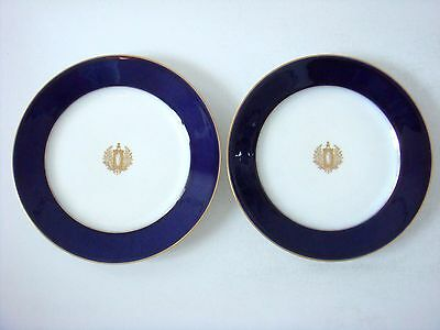 Sevres Porcelain Blue Ground Decorated With Allegory Of The Republic 2 X Plates