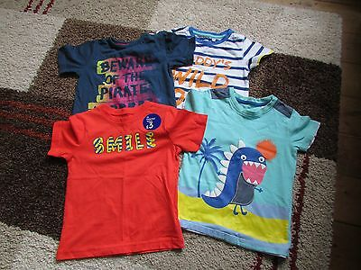 4 Boys T Shirts Age 18-24Mths  Mothercare And  Bhs