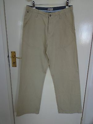 Tommy Hilfiger Beige Linen and Cotton Trousers Size 32 Waist