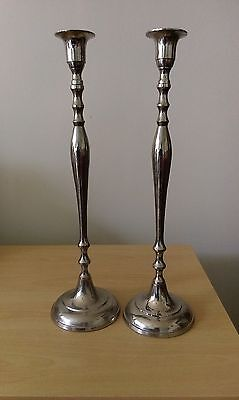 tall silver plated impressive candlesticks