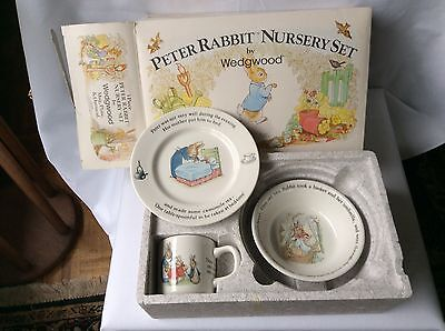 Wedgwood Peter Rabbit Nursery Set Bowl Plate Mug Boxed