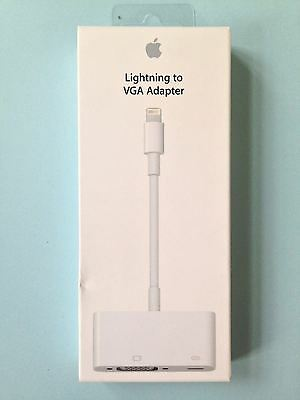 NEW Genuine Apple Lightning to VGA Adapter MD825ZM/A - White