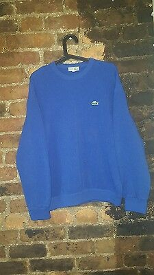 Mens Size Small S Lacoste Size 4 Vintage Blue Jumper