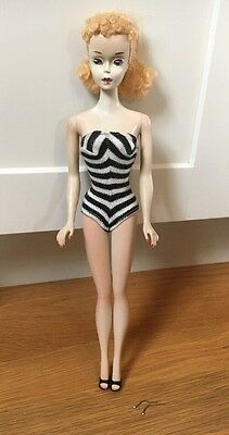 Vintage #3 BLONDE Ponytail Barbie Doll TM in Original Swimsuit