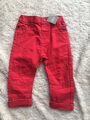 Next Boys Chinos Red 12-18 Month