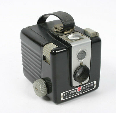 Vintage Kodak Brownie Hawkeye Box Camera Flash Model