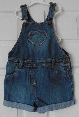 Girls Lovely F & F All In One  Denim Shorts  Age 5 - 6 Years.