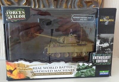 Boxed Unimax Forces of Valour 1/72 Scale WW2 German Army Panther Italy 1944 MIB