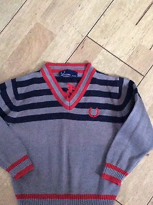 Baby Boy Fred Perry Jumper Age 2 Years